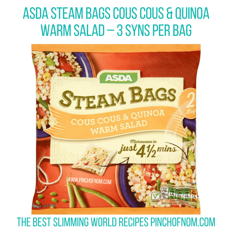 Asda steam bags - Pinch of Nom Slimming World Shopping Essentials