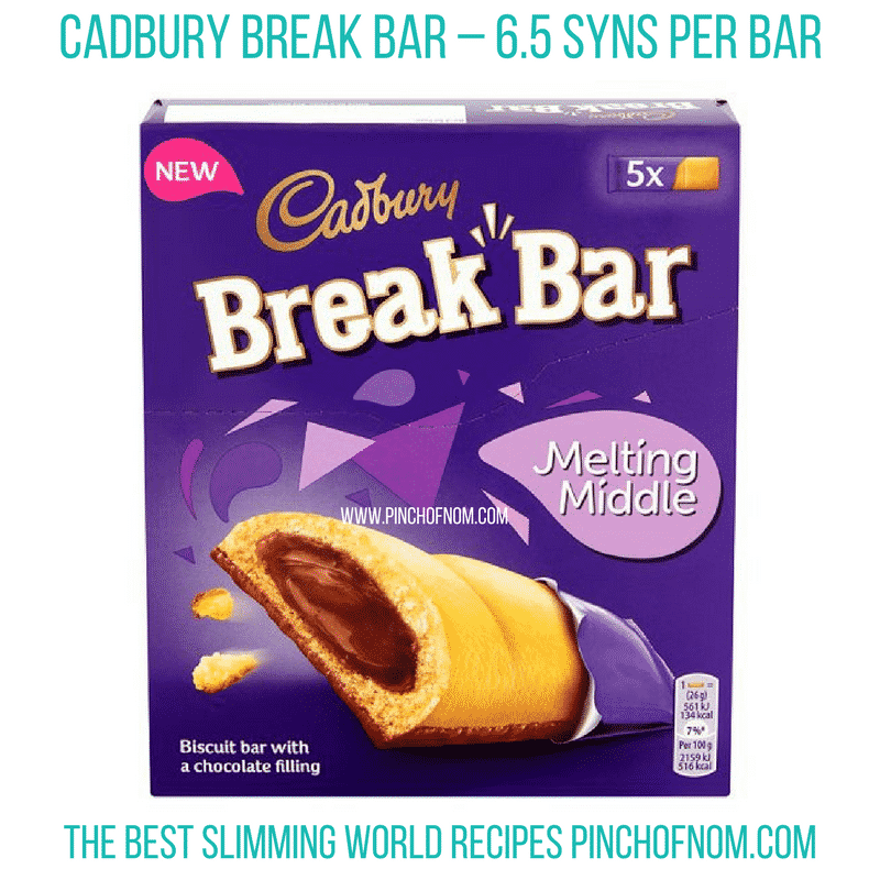 Cadbury Break Bar - Pinch of Nom Slimming World Shopping Essentials