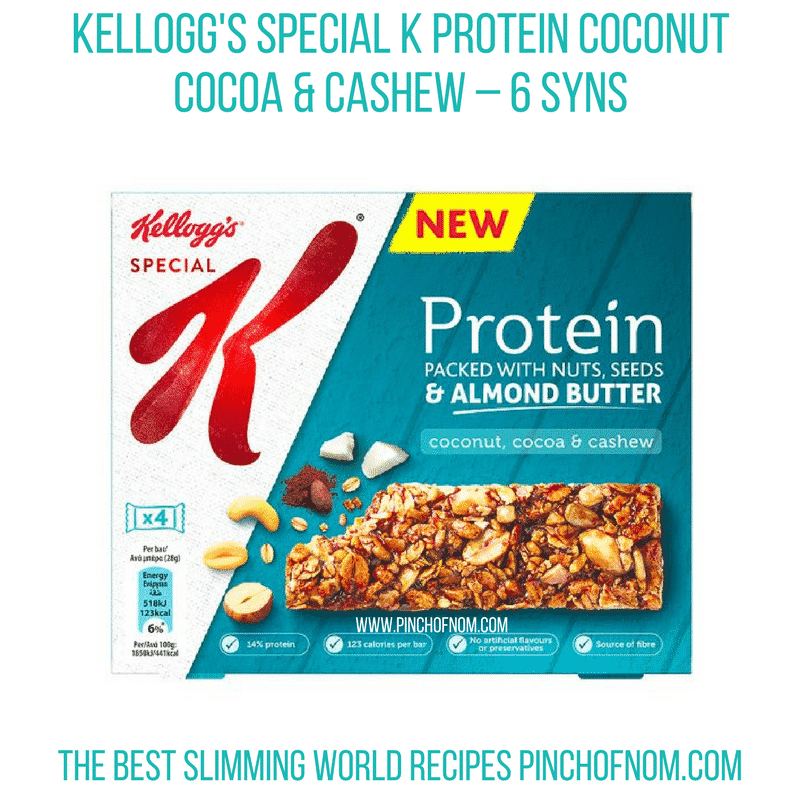 Special K protein coconut - Pinch of Nom Slimming World Shopping Essentials