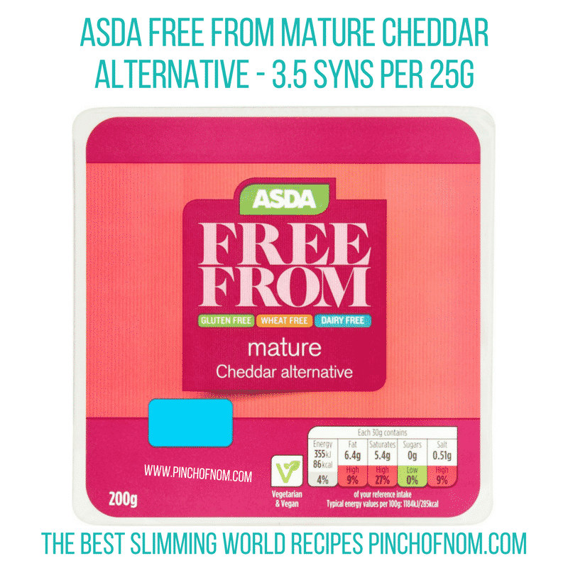 Asda Free From cheese alt - Pinch of Nom Slimming World Shopping Essentials