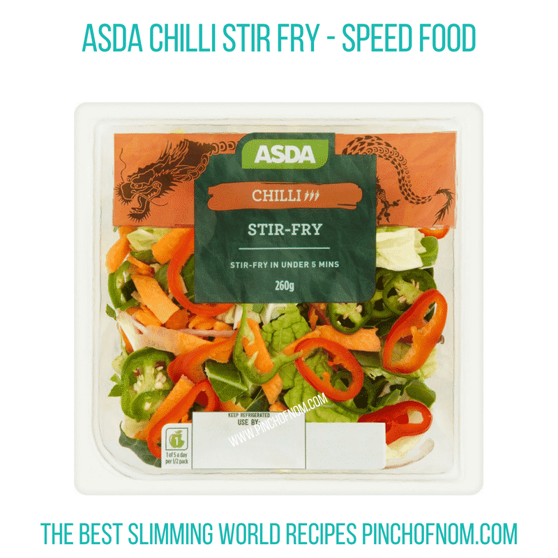 Asda Chilli Stir fry - Pinch of Nom Slimming World Shopping Essentials