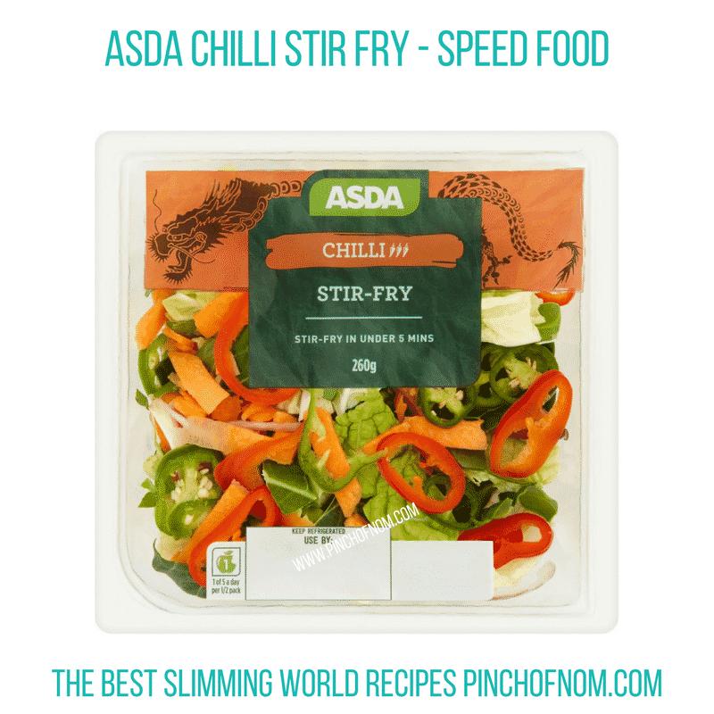 Asda Chilli Stir fry - Pinch of Nom Slimming World Shopping Essentials