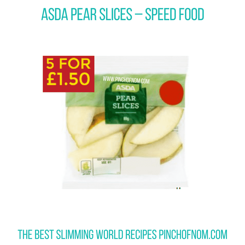 Asda Pear Slices - Pinch of Nom Slimming World Shopping Essentials