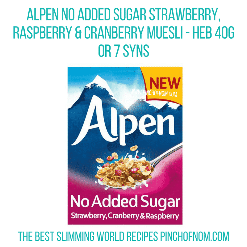 Alpen strawb rasp Pinch of Nom Slimming World Shopping Essentials