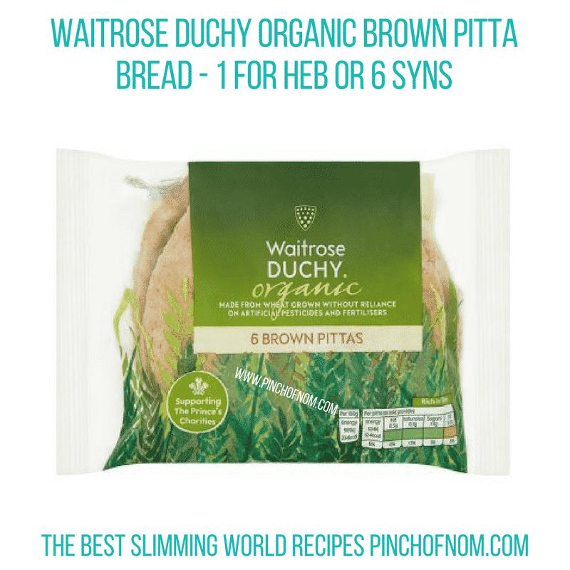 Waitrose Duchy Pitta - Pinch of Nom Slimming World Shopping Essentials