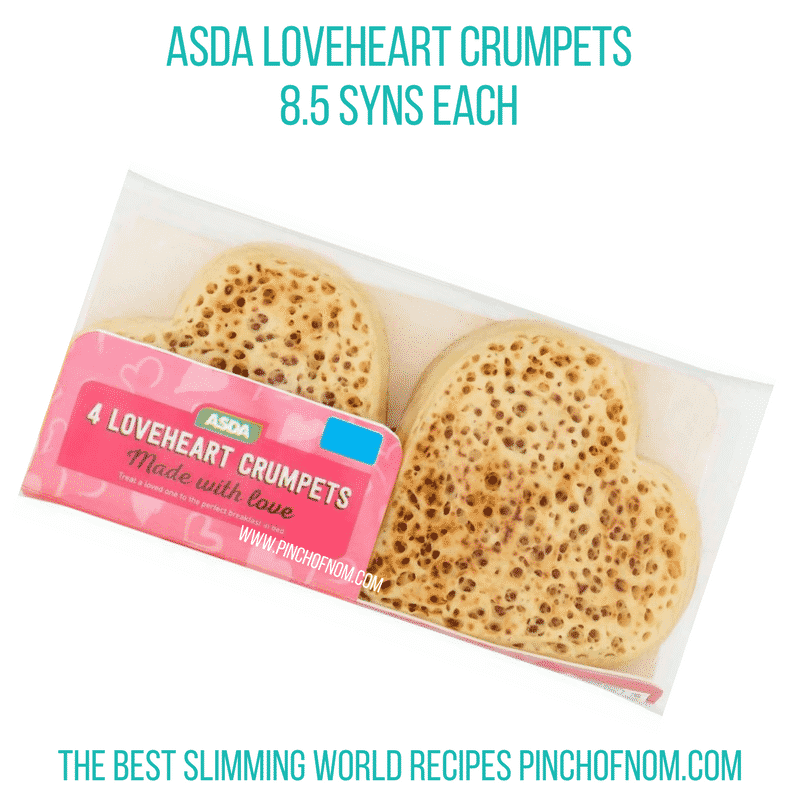 Asda Loveheart Crumpets - Pinch of Nom Slimming World Shopping Essentials