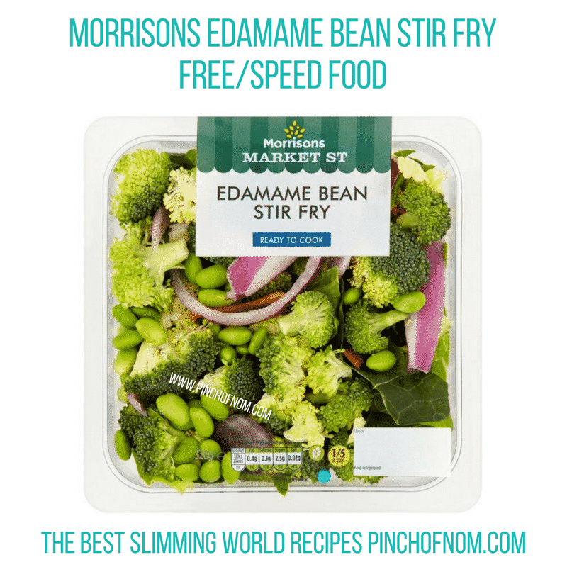 Edamame Stir fry - Pinch of Nom Slimming World Shopping Essentials