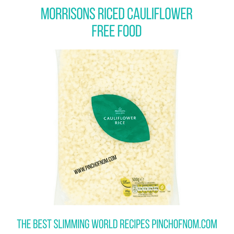 Morrisons Riced Cauli - Pinch of Nom Slimming World Shopping Essentials
