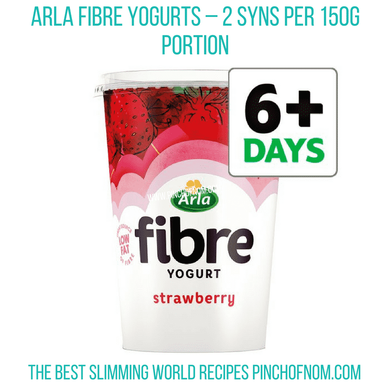 Arla Fibre yogurt - Pinch of Nom Slimming World Shopping Essentials