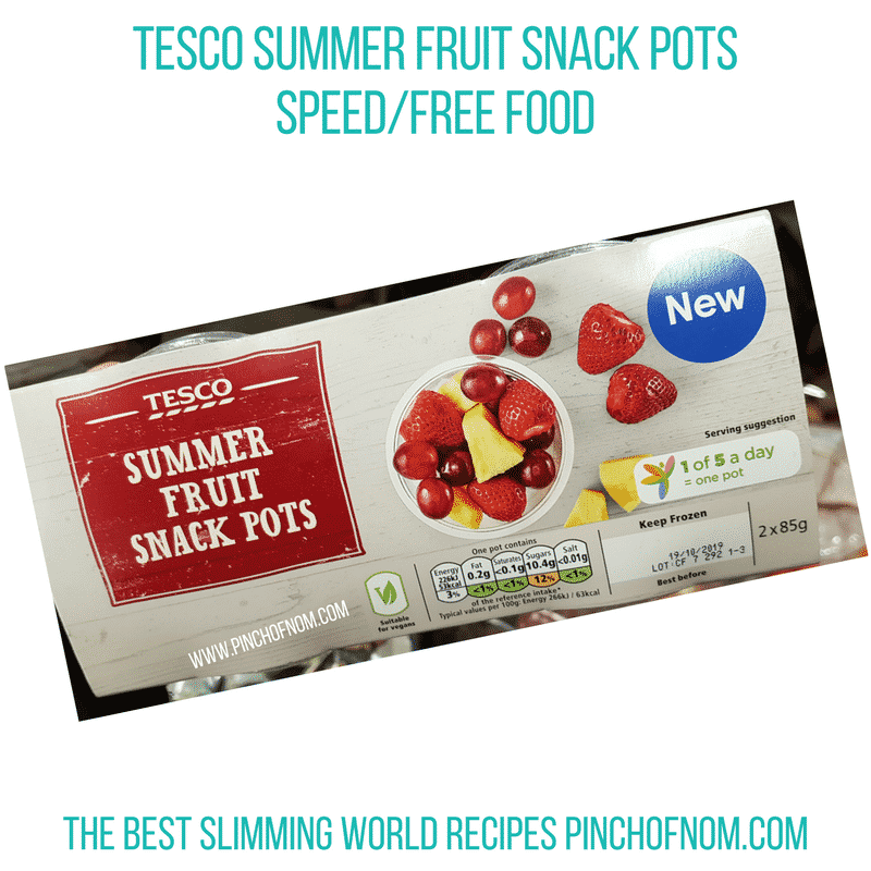 Tesco Fruit snack pots - Pinch of Nom Slimming World Shopping Essentials