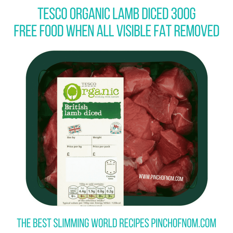 Organic lamb - Pinch of Nom Slimming World Shopping Essentials