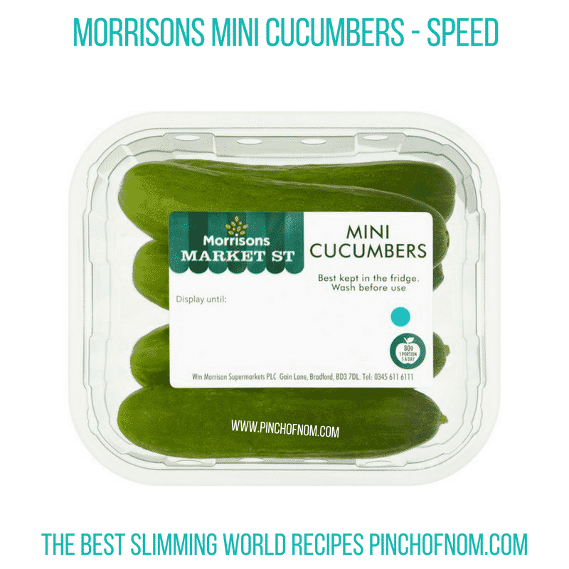 Morrisons Mini Cucumbers - Pinch of Nom Slimming World Shopping Essentials