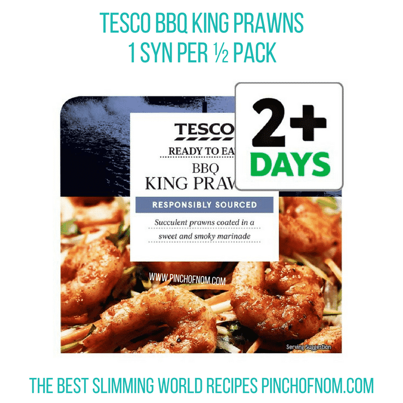 BBQ King prawns - Pinch of Nom Slimming World Shopping Essentials