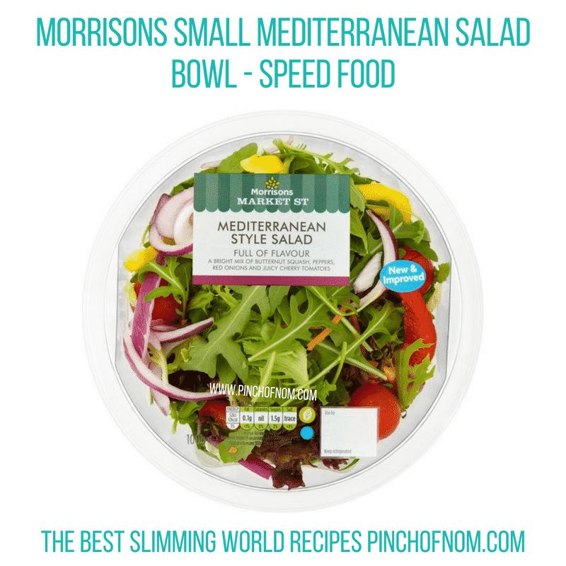 Morrisons medit salad - Pinch of Nom Slimming World Shopping Essentials