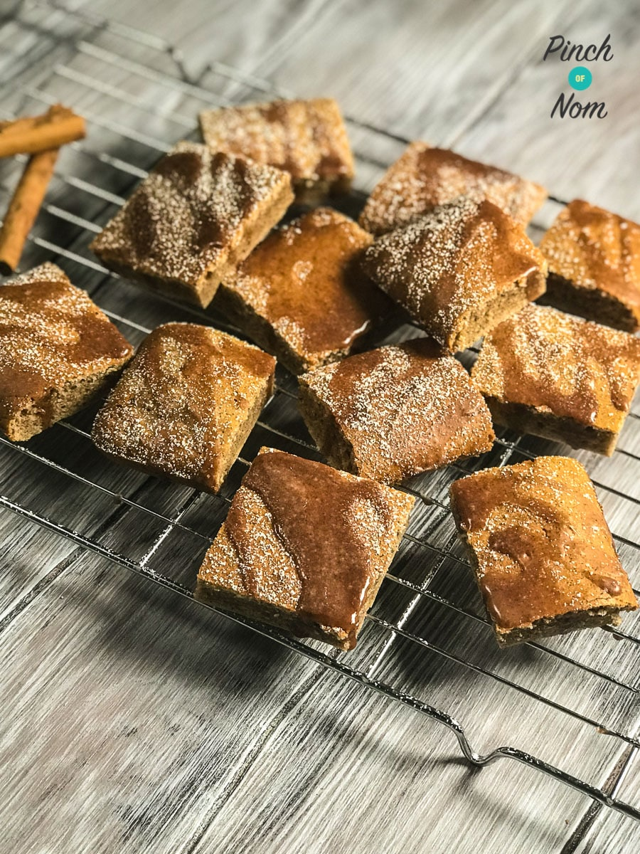 Low Syn Cinnamon Drizzle Squares