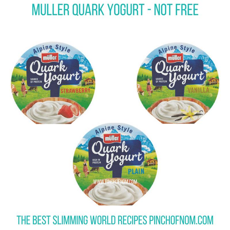 Muller Quark Yogurt - Pinch of Nom Slimming World Shopping Essentials