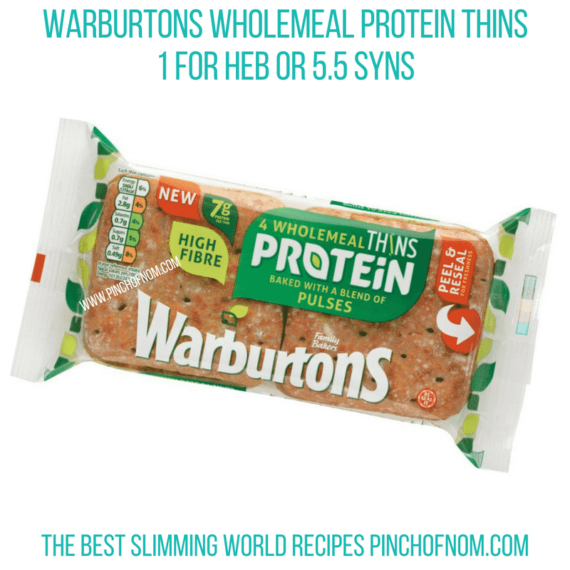 Warburtons Wholemeal Protein thins - Pinch of Nom Slimming World Shopping Essentials