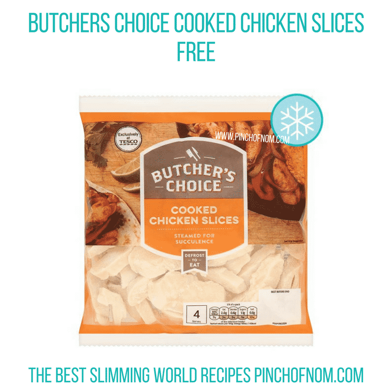 Cooked chicken slices - Pinch of Nom Slimming World Shopping Essentials