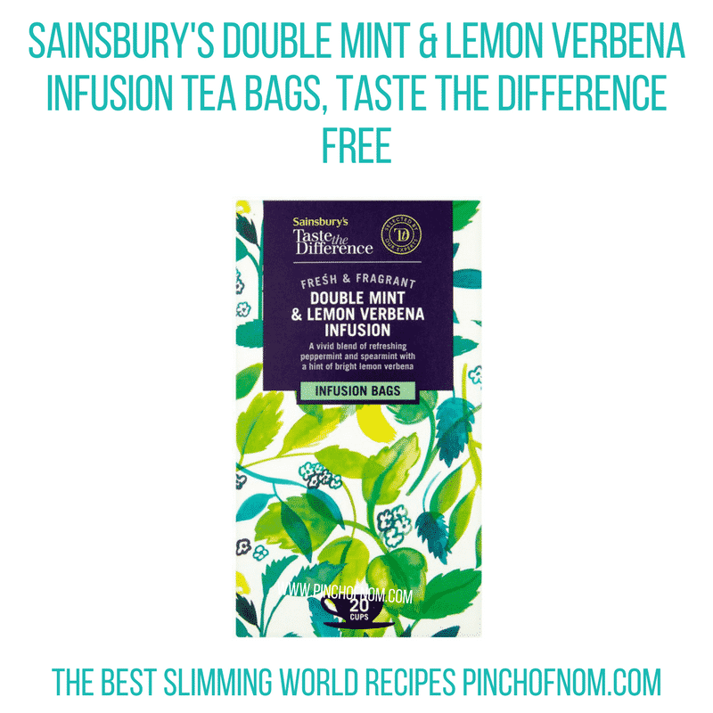 Sainsbury's Double Mint & Lemon Verbena Tea bags - Pinch of Nom Slimming World Shopping Essentials