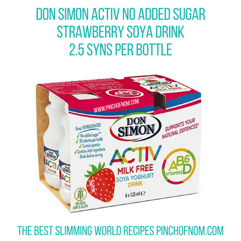 Don Simon Strawberry Soya drink - Pinch of Nom Slimming World Shopping Essentials