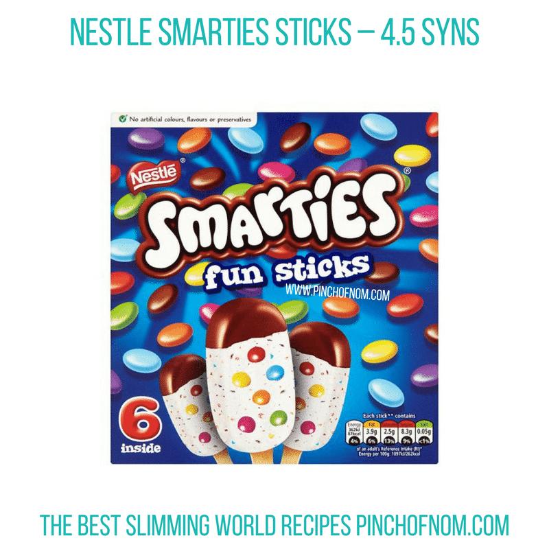 Smarties Fun Sticks - Pinch of Nom Slimming World Shopping Essentials