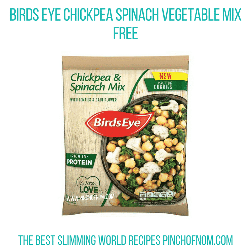 Birds eye chickpea spinach - Pinch of Nom Slimming World Shopping Essentials