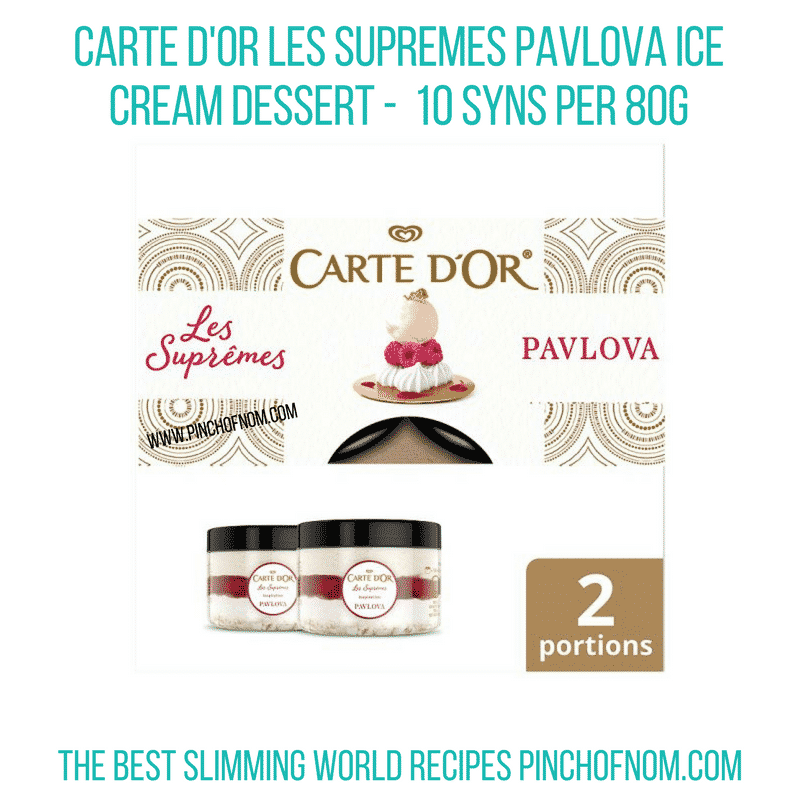Carte D'or Les Supremes Pavlova - Pinch of Nom Slimming World Shopping Essentials