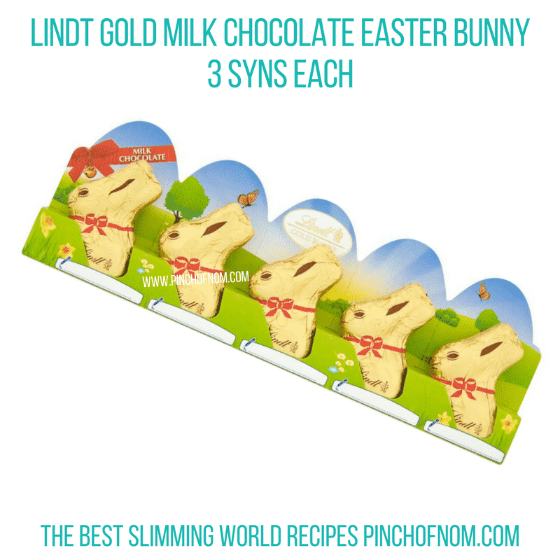 Lindt gold bunny - Pinch of Nom Slimming World Shopping Essentials