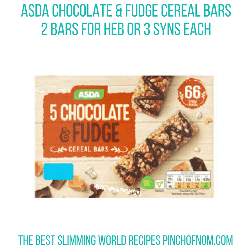 Asda cereal bars - Pinch of Nom Slimming World Shopping Essentials