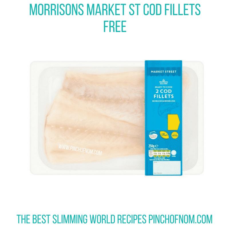 Morrisons Market St Cod - Pinch of Nom Slimming World Shopping Essentials