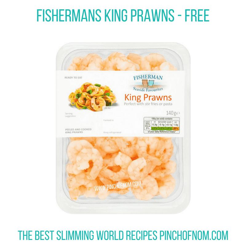 Fishermans King Prawns - Pinch of Nom Slimming World Shopping Essentials