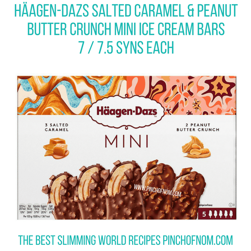 Haagen-Dazs mini ice cream bars - Pinch of Nom Slimming World Shopping Essentials