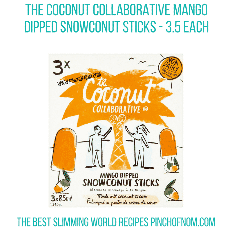 Mango Snowconut sticks - Pinch of Nom Slimming World Shopping Essentials