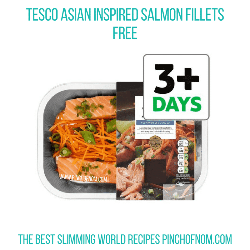Tesco Asian Salmon - Pinch of Nom Slimming World Shopping Essentials