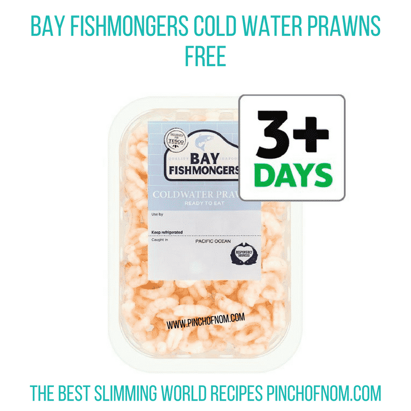 Cold water prawns - Pinch of Nom Slimming World Shopping Essentials