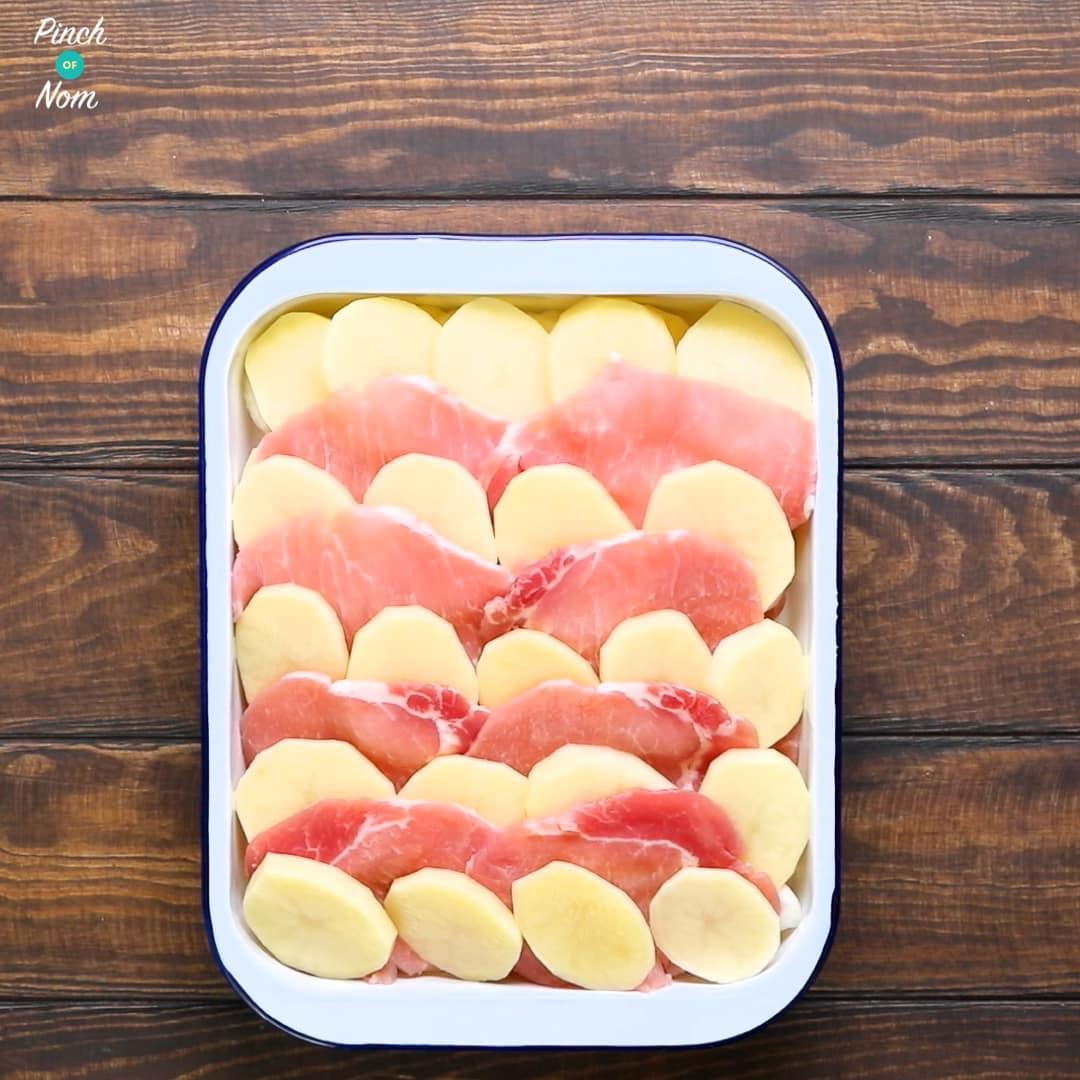 Bacon, Onion and Potato Bake | Slimming World & Weight Watchers Friendly