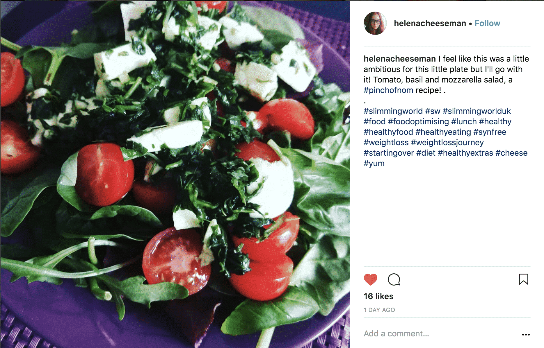 Tomato, Basil and Mozzarella Salad | Slimming & Weight Watchers Friendly