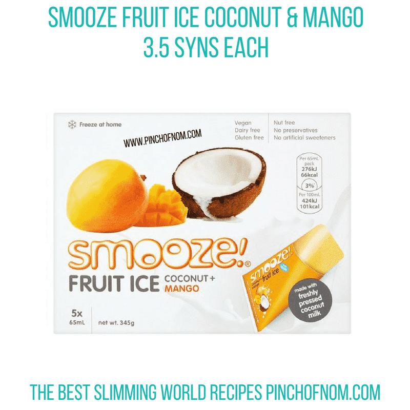 Smooze mango - Pinch of Nom Slimming World Shopping Essentials