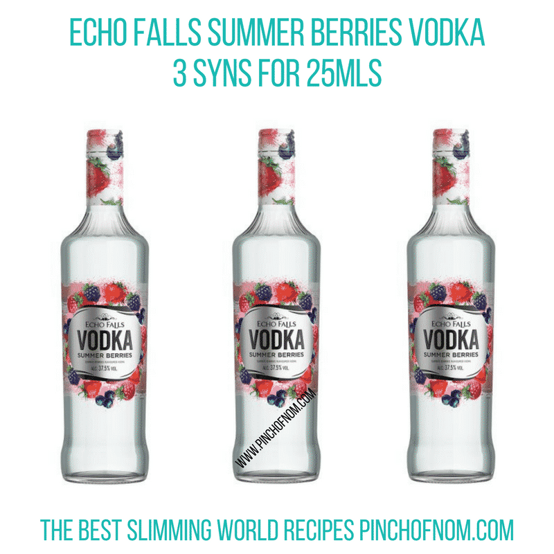 Echo Falls Summer Berries Vodka - Pinch of Nom Slimming World Shopping Essentials