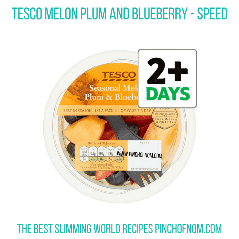 Tesco Melon Plum Blueberry - Pinch of Nom Slimming World Shopping Essentials