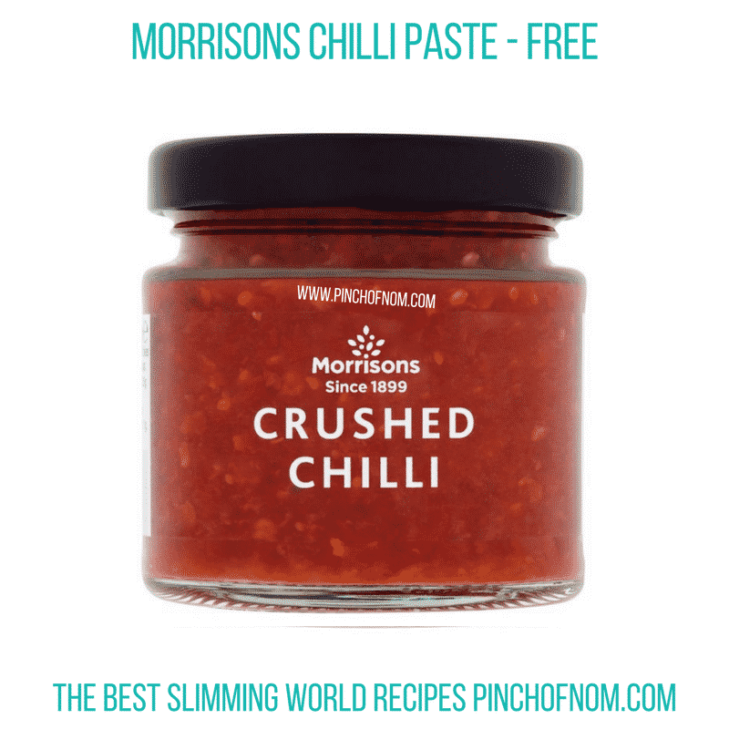 Morrisons chilli paste - Pinch of Nom Slimming World Shopping Essentials