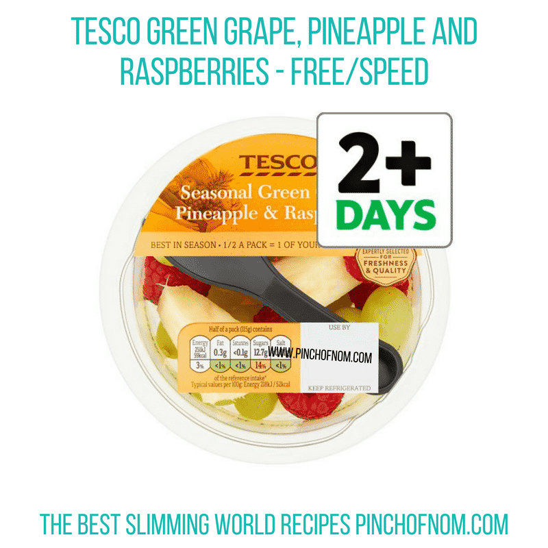 Tesco Grape, Pineapple Raspberry - Pinch of Nom Slimming World Shopping Essentials