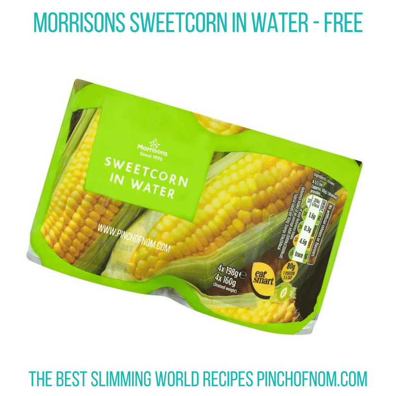 Morrisons sweetcorn - Pinch of Nom Slimming World Shopping Essentials