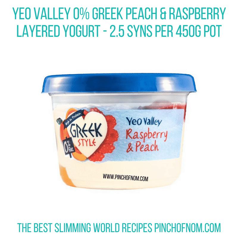 Yeo Peach Raspberry - Pinch of Nom Slimming World Shopping Essentials