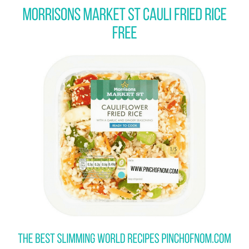 Morrisons Cauli fried rice - Pinch of Nom Slimming World Shopping Essentials