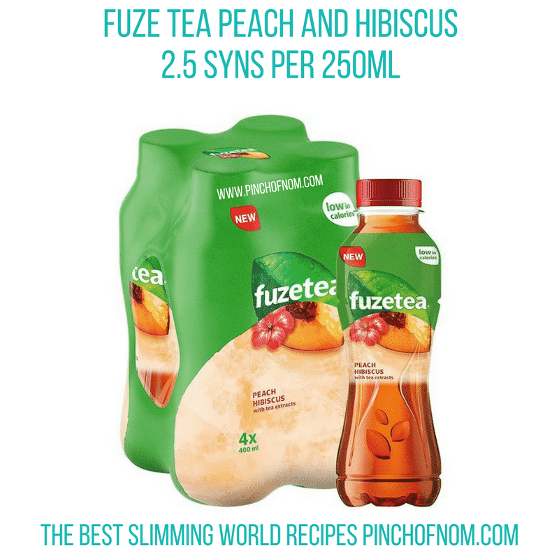 Fuze tea - Pinch of Nom Slimming World Shopping Essentials
