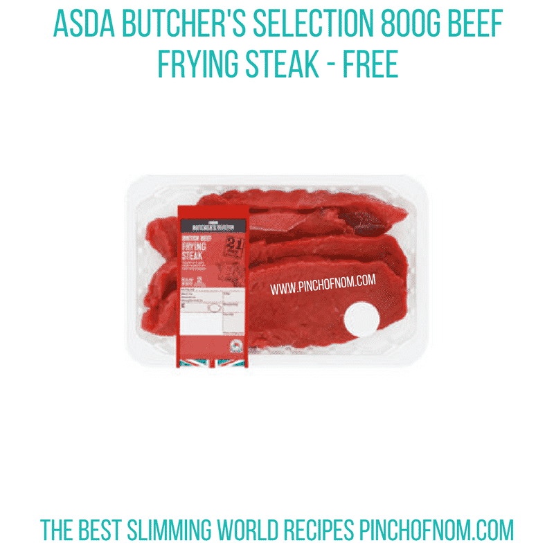 Asda Frying steak - Pinch of Nom Slimming World Shopping Essentials