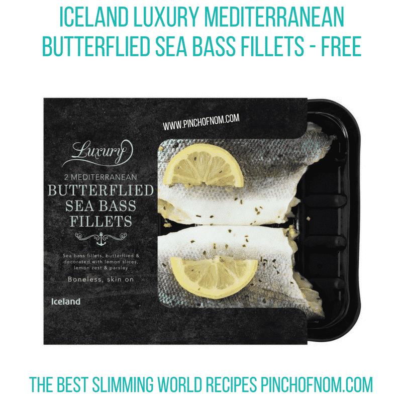 Iceland Sea Bass - Pinch of Nom Slimming World Shopping Essentials