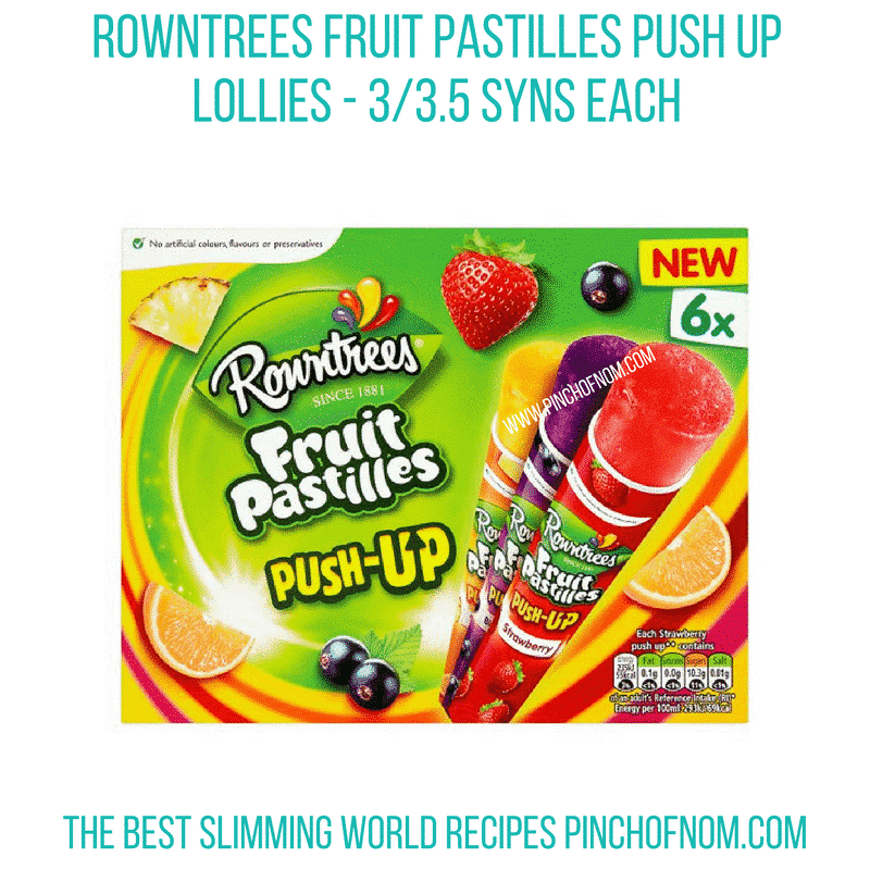 New Slimming World Shopping Essentials 6/4/18 - Fruit Pastille Lollies
