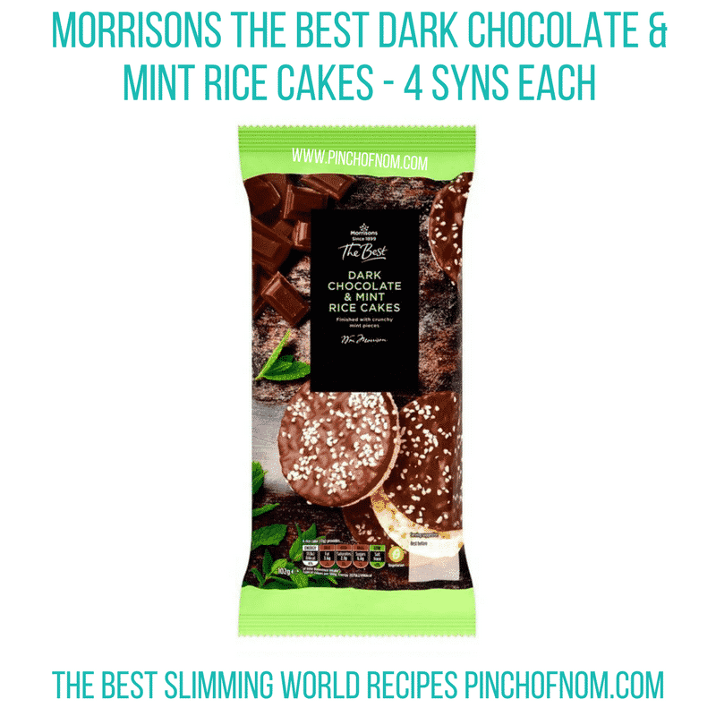 Morrisons Mint rice cakes - Pinch of Nom Slimming World Shopping Essentials